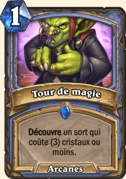 Tour de magie carte Hearthstone