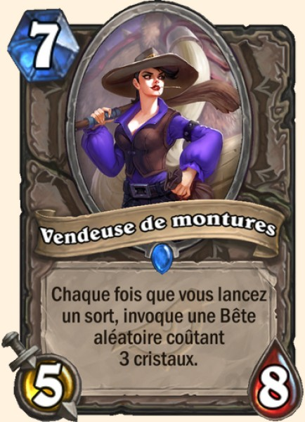Vendeuse de montures carte Hearthstone