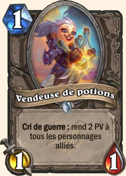 Vendeuse de potions carte Hearthstone