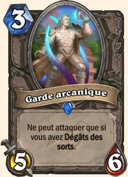 Garde arcanique carte Hearthstone