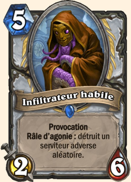 Infiltrateur habile carte Hearthstone