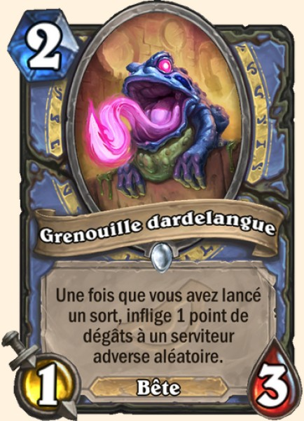 Grenouille dardelangue carte Hearthstone