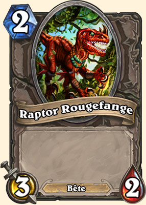 Raptor Rougefange carte Hearthstone