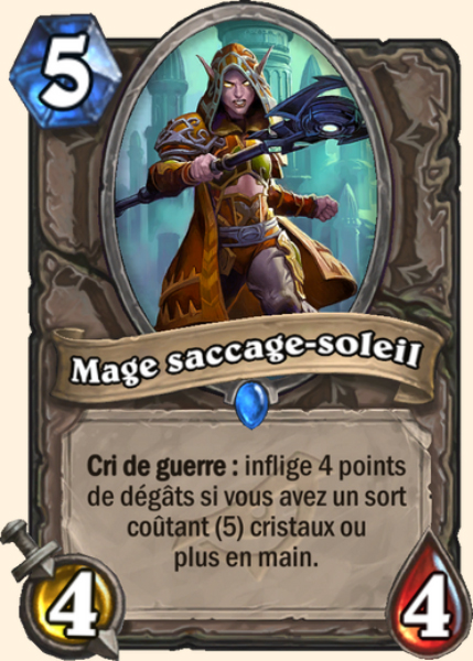 Mage saccage-soleil carte Hearthstone