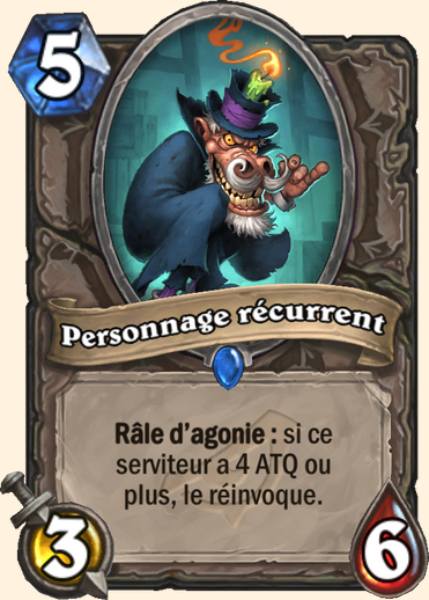 Personnage récurrent carte Hearthstone