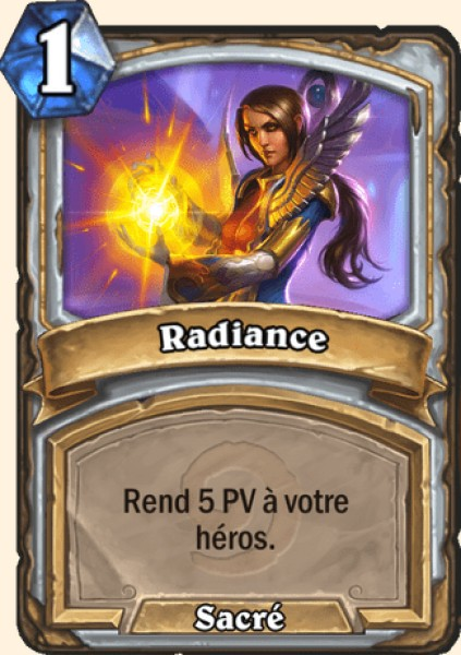 Radiance carte Hearthstone