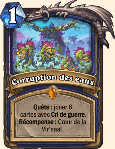 Corruption des eaux carte Hearthstone