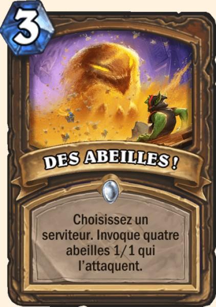 DES ABEILLES ! carte Hearthstone