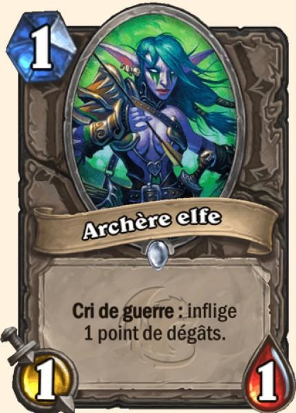 Archère elfe - Carte Hearthstone
