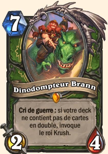Dinodompteur Brann carte Hearthstone