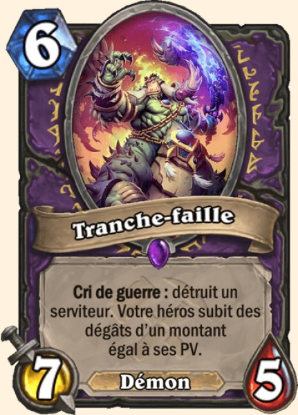 Tranche-faille carte Hearthstone