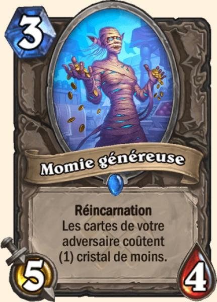 Momie généreuse carte Hearthstone