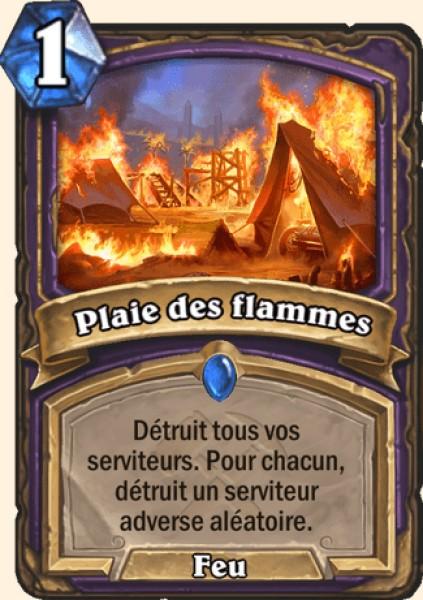 Plaie des flammes carte Hearthstone