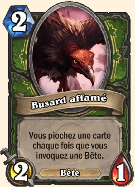 Busard affamé carte Hearthstone