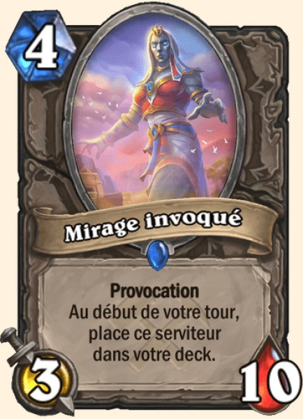 Mirage invoqué carte Hearthstone