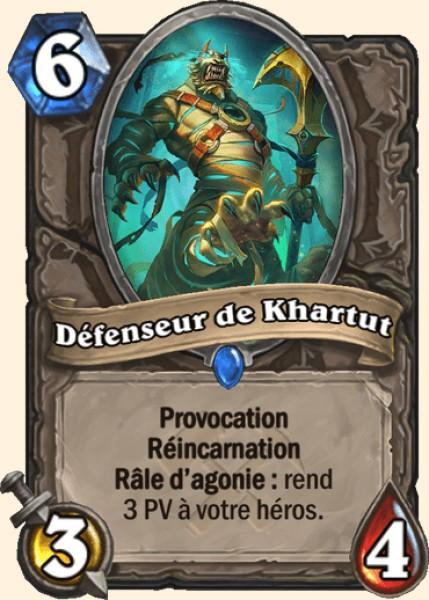 Défenseur de Khartut carte Hearthstone