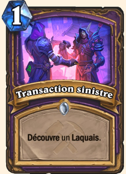 Transaction sinistre carte Hearthstone