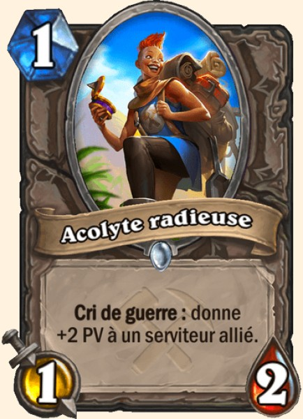 Acolyte radieuse carte Hearthstone