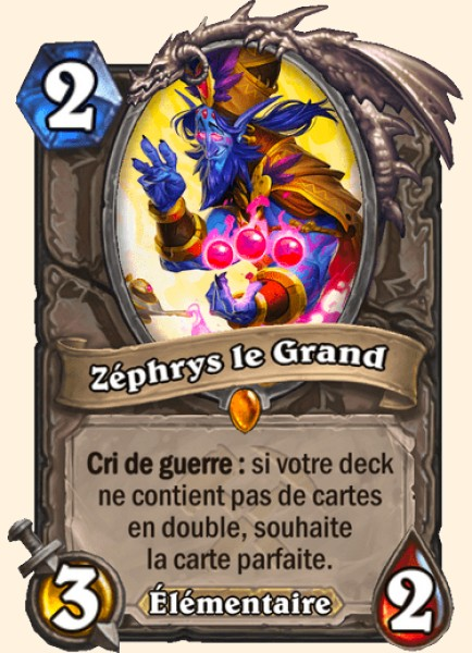 Zéphrys le Grand carte Hearthstone