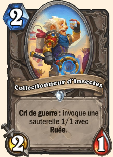 Collectionneur d'insectes carte Hearthstone
