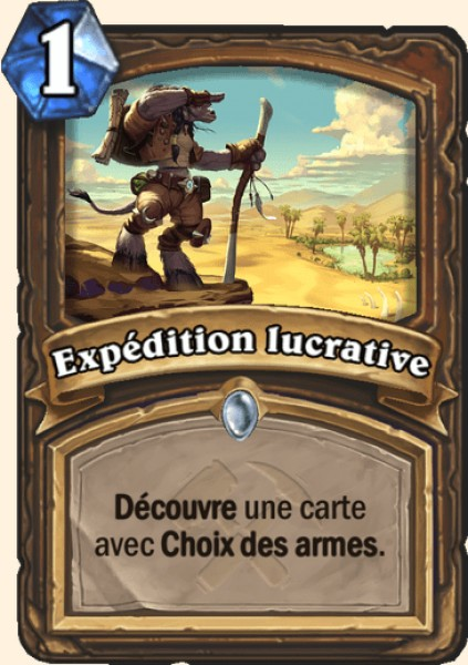 Expédition lucrative carte Hearthstone