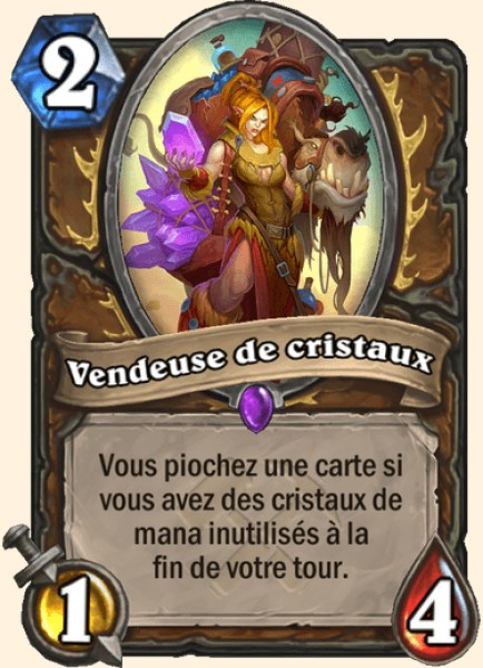 Vendeuse de cristaux carte Hearthstone