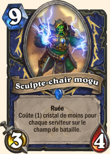 Sculpte-chair mogu carte Hearthstone