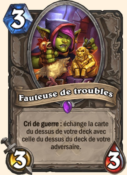 Fauteuse de troubles carte Hearthstone