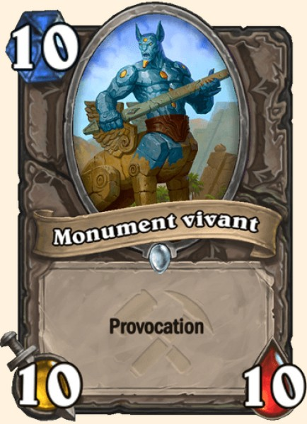 Monument vivant carte Hearthstone