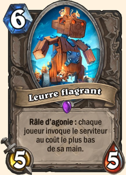 Leurre flagrant carte Hearthstone