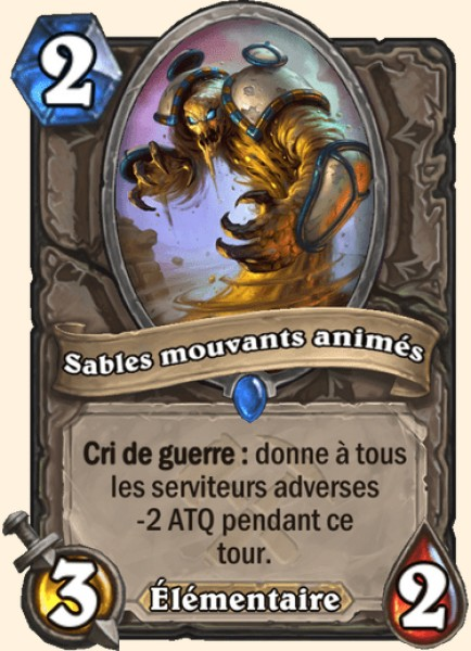 Sables mouvants animés carte Hearthstone