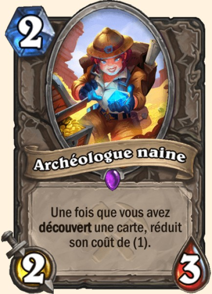 Archéologue naine carte Hearthstone
