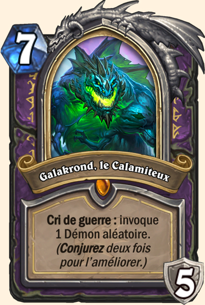 Galakrond, le Calamiteux carte Hearthstone