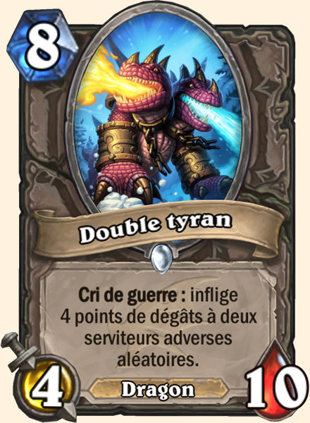 Double tyran carte Hearthstone