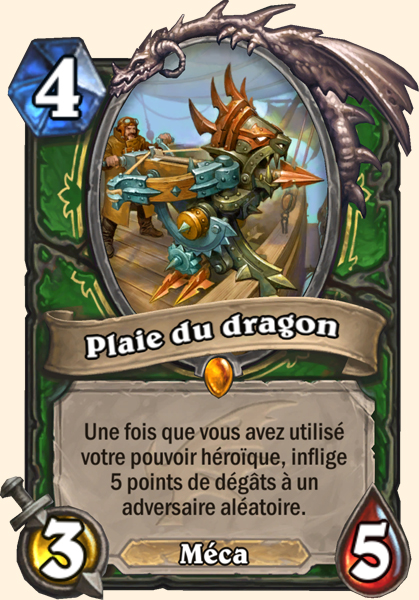Plaie du dragon carte Hearthstone