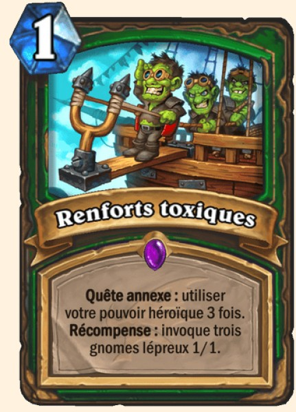 Renforts toxiques carte Hearthstone