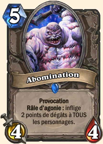 Abomination carte Hearthstone