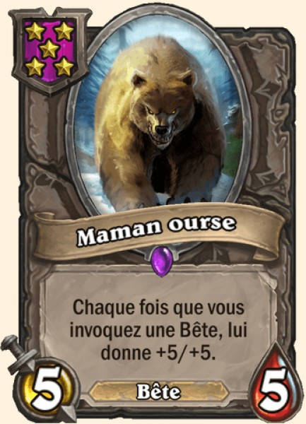 Maman ourse carte Hearthstone