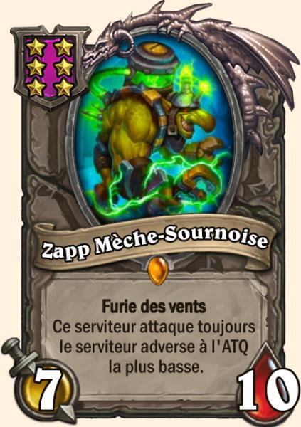 Zapp Mèche-Sournoise carte Hearthstone