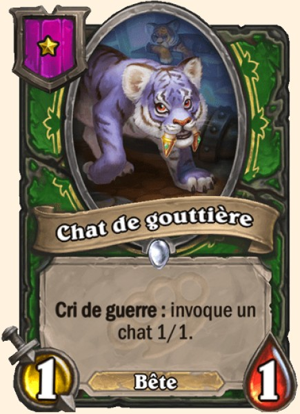 Chat de gouttière carte Hearthstone