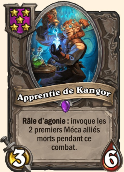 Apprentie de Kangor carte Hearthstone