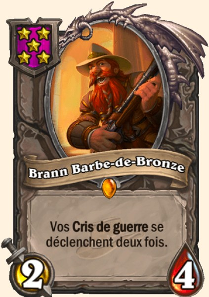 Brann Barbe-de-bronze carte Hearthstone