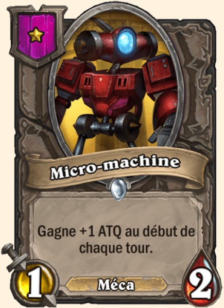 Micro-machine carte Hearthstone