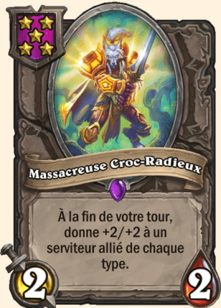 Massacreuse Croc-Radieux carte Hearthstone