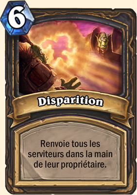 Disparition carte Hearthstone