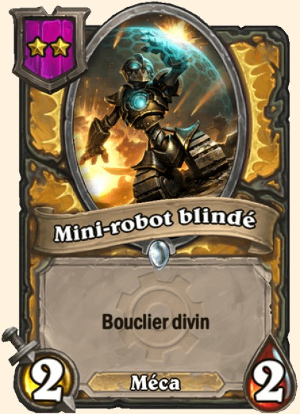 Mini-robot blindé carte Hearthstone