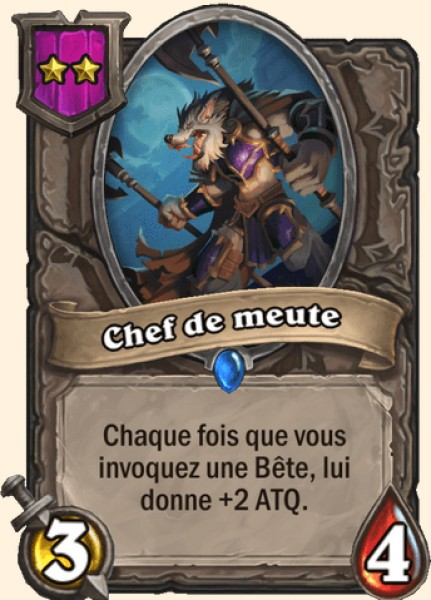 Chef de meute carte Hearthstone