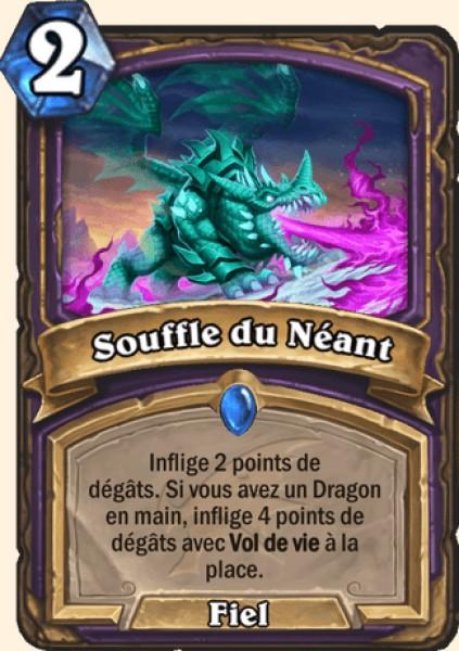 Souffle du Néant carte Hearthstone