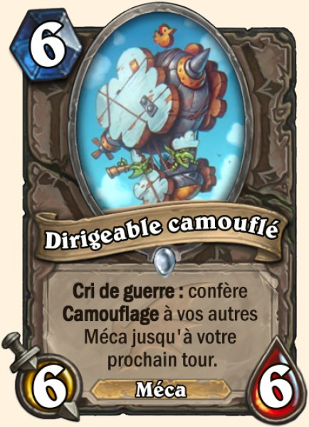 Dirigeable camouflé carte Hearthstone