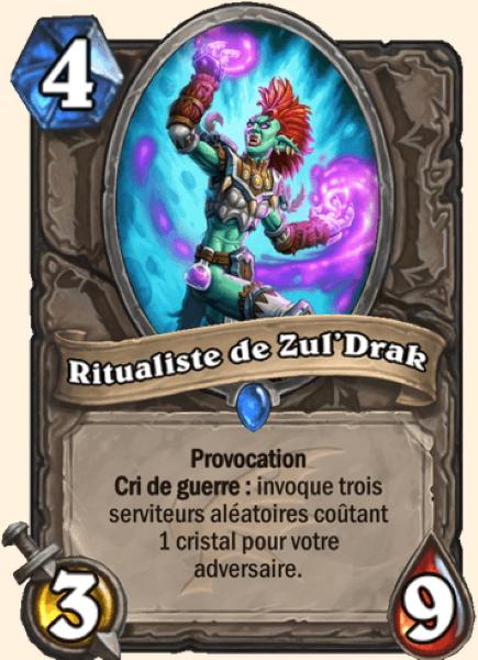 Ritualiste de Zul'Drak carte Hearthstone